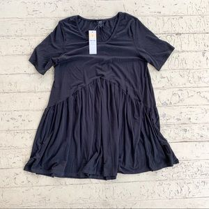 NWT Agnes & Dora Black babydoll top small